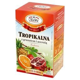Sunny Garden Exclusive Tropikalna z granatem i acerolą Herbatka owocowa 40 g (20 torebek)