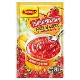 Kisiel w kubku smak truskawkowy