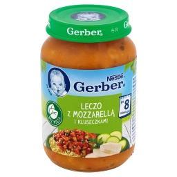 Leczo z mozzarellą i kluseczkami po 8 miesiącu