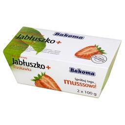 Mus owocowy Jabłuszko + Truskawka 200 g (2 sztuki)