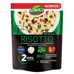 Risotto ryż z jarmużem i suszonymi pomidorami