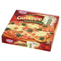 Guseppe Smaki Świata Pizza z serem mozzarella szynką i sosem pesto