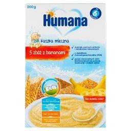 Kaszka mleczna 5 zbóż z bananami po 6. miesiącu