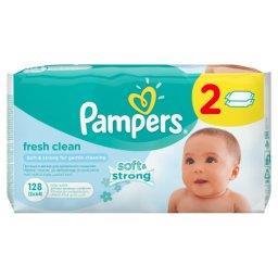 Fresh Clean chusteczki dla niemowląt 2 x 64 sztuki