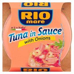 Tuńczyk w sosie z cebulą