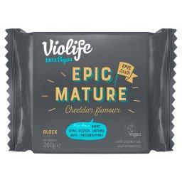 Produkt na bazie oleju kokosowego o smaku epicki dojrzały cheddar blok