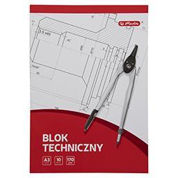 Blok techniczny A3, 10 kartek, białe kartki