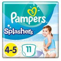 Splashers, Rozmiar 4-5, 11 Jednorazowych Pieluch Do Pływania
