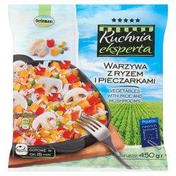 Kuchnia eksperta Warzywa z ryżem i pieczarkami