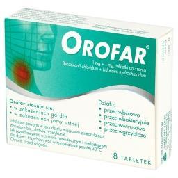 1 mg + 1 mg Tabletki do ssania 8 tabletek