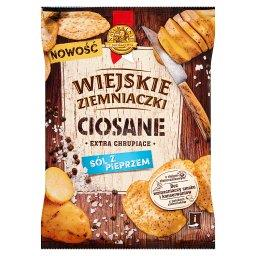 Ciosane Chipsy ziemniaczane o smaku soli z pieprzem