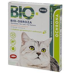 Bio obroża z olejkiem geraniowym i cedrowym dla kota...