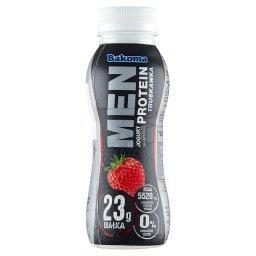 Men Jogurt z wysoką zawartością protein truskawka