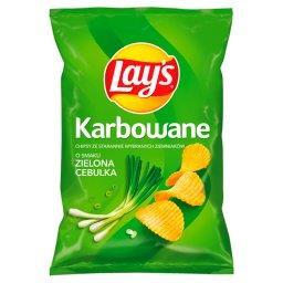 Chipsy ziemniaczane karbowane o smaku zielonej cebul...