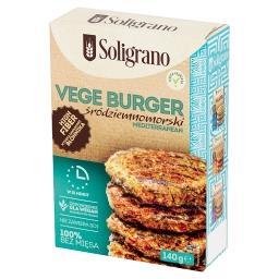 Vege burger śródziemnomorski