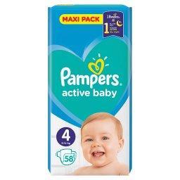Active Baby Rozmiar 4, 58 pieluszek, 9-14 kg
