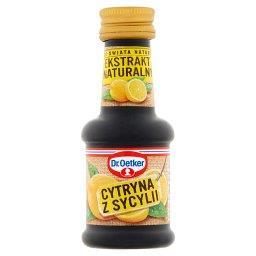 Ze świata natury Ekstrakt naturalny cytryna z Sycyli...