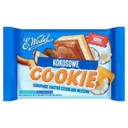 Cookie Czekolada mleczna z nadzieniem kokosowym i he...