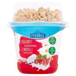Jogurt malinowy z musli kokosowym