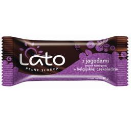 Baton twarogowy Belgijska czekolada z jagodami 40g