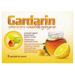 Miód & cytryna Pastylki do ssania Suplement diety  (8 sztuk)
