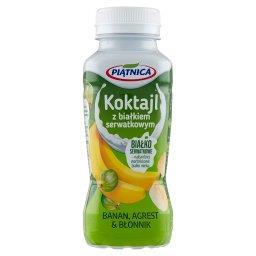 Koktajl z białkiem serwatkowym banan agrest & błonni...