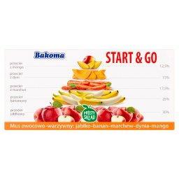 Start & Go Mus owocowo-warzywny jabłko-banan-marchew-dynia-mango 200 g