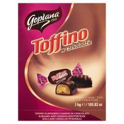 Toffino Cukierki o smaku toffi w czekoladzie