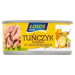 Tuńczyk kawałki w oleju roślinnym