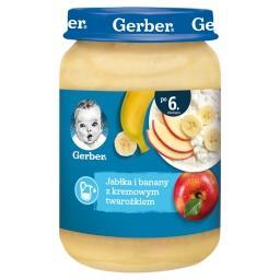 Jabłka i banany z kremowym twarożkiem dla niemowląt ...