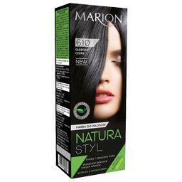 Farba do włosów Natura Styl, Głęboka czerń 610