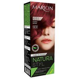 Farba do włosów Natura Styl, Ciemna wiśnia 651