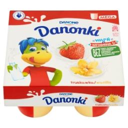 Danonki Pół na Pół Serek truskawka wanilia 360 g