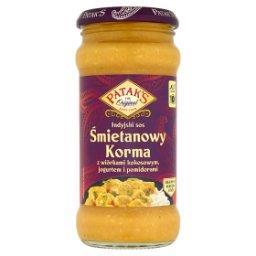 Indyjski sos śmietanowy Korma z wiórkami kokosowymi ...