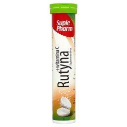 Rutyna + Witamina C Tabletki musujące o smaku cytrynowym