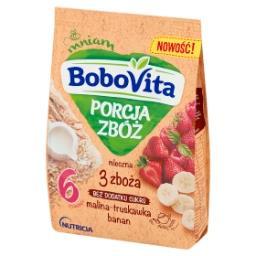 Porcja Zbóż Kaszka mleczna 3 zboża malina-truskawka-...