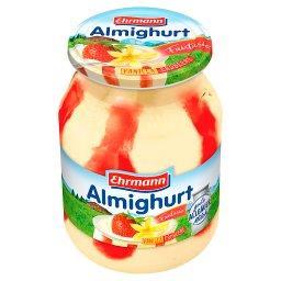 Jogurt o smaku waniliowym z wsadem o smaku truskawko...