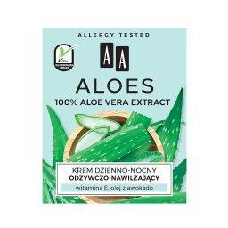 Aloes 100% aloe vera extract krem dzienno-nocny odżywczo-nawilżający 50 ml