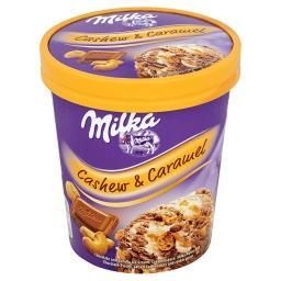 Lody czekoladowe i lody o smaku waniliowym z sosem k...