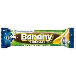 Żelek o smaku bananowym 74% oblany gorzką czekoladą 26%
