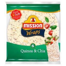 Wraps Quinoa & Chia Tortille z mąki pszennej  (6 sztuk)