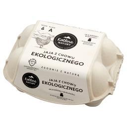 Jaja z chowu ekologicznego różnej wielkości 6 sztuk