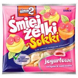 Śmiejżelki Sokki jogurtowe Żelki owocowe wzbogacone ...