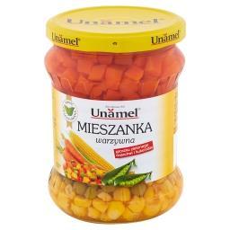 Mieszanka warzywna groszku zielonego marchwi i kukurydzy