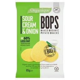 Ekologiczne pieczone chipsy ziemniaczane o smaku śmietankowo-cebulowym