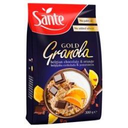 Gold Granola belgijska czekolada & pomarańcza