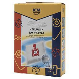 Worki do odkurzaczy 49.4220 Zelmer 4 sztuki + filtr