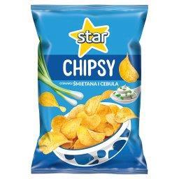 Chipsy o smaku śmietana i cebula