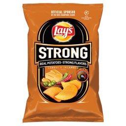Strong Chipsy ziemniaczane karbowane o smaku sera i ...