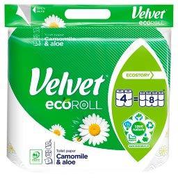 EcoRoll Rumianek i Aloes Papier toaletowy 4 rolki